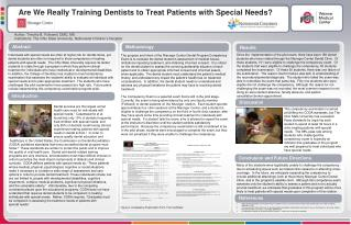 Are We Really Training Dentists to Treat Patients with Special Needs?