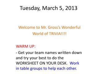 Tuesday, March 5, 2013