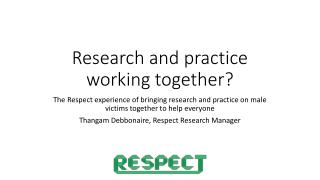 Research and practice working together?