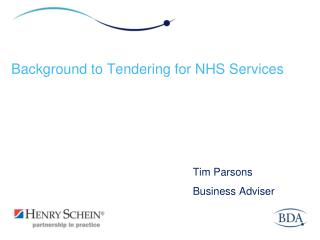 Background to Tendering for NHS Services