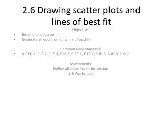 2.6 Drawing scatter plots and lines of best fit