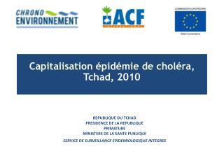 Capitalisation épidémie de choléra, Tchad, 2010