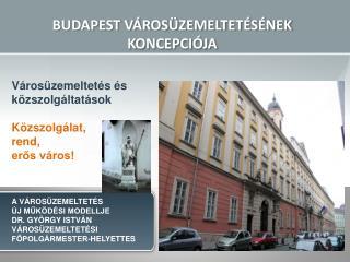 BUDAPEST V ROS ZEMELTET S NEK KONCEPCI JA