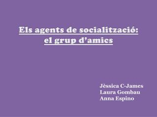 Els agents de socialització: el grup d'amics