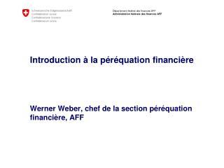 La péréquation financière