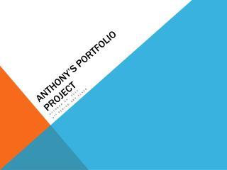 Anthony's portfolio project