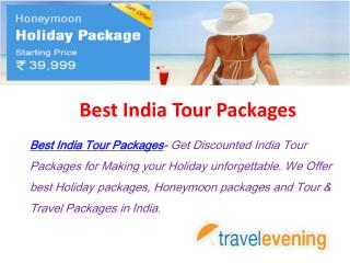 Best India Tour Packages at Affordable Price