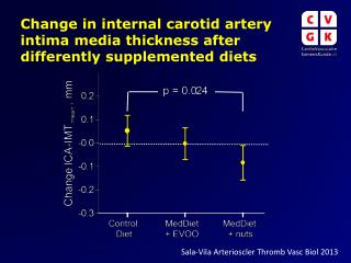 Change in internal carotid artery intima media thickness after differently supplemented diets