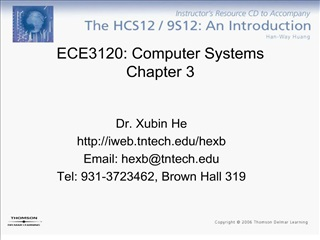 ECE3120: Computer Systems Chapter 3