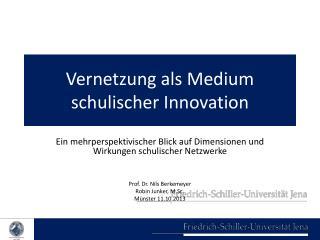 Vernetzung als Medium schulischer Innovation