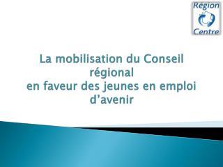 La  mobilisation du  Conseil régional  en faveur des jeunes en emploi  d'avenir