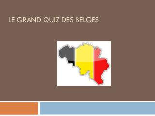 Le grand quiz des belges