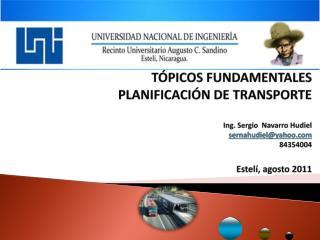 Ingeniería de  Tránsito (IC-ITRA)