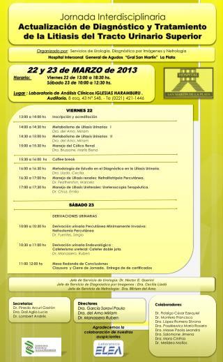 13 :00  a 14:00  hs Inscripción y acreditación