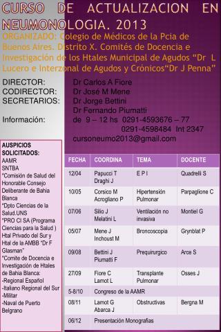 Curso de  actualizacion  en  neumonologia .  2013