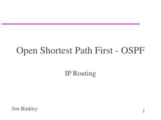 Open Shortest Path First - OSPF
