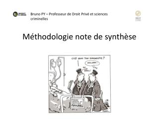 M�thodologie note de synth�se