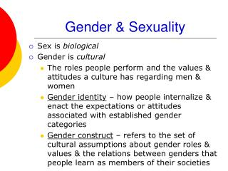 Help With  Women And Gender Studies Presentation