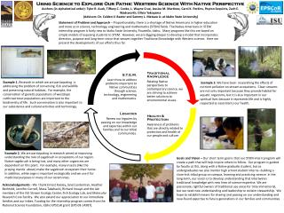 Using Science to Explore Our Paths: Western Science With Native  Perspective
