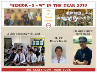 """SENIOR –  2  – W""  IN  THE  YEAR   2010"