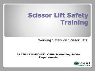 Scissor Lift Safety Training
