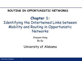 Xiaoyan Hong Bo Gu University of Alabama