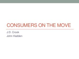 Consumers on the Move