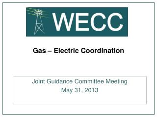 Gas – Electric  Coordination