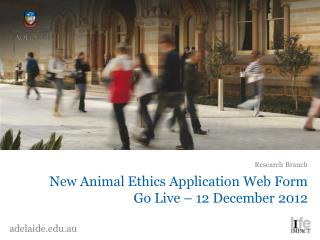 New Animal Ethics Application Web Form Go Live – 12 December 2012