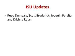 ISU Updates