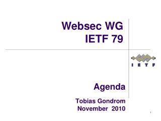 Agenda  Tobias Gondrom November  2010