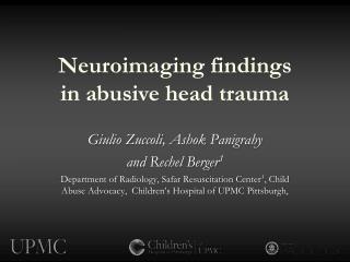 Neuroimaging findings  in  abusive head trauma