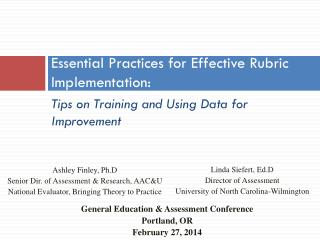 Essential Practices for Effective Rubric Implementation: