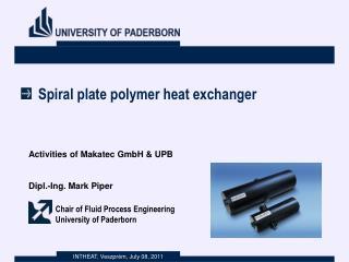 Spiral plate polymer heat exchanger