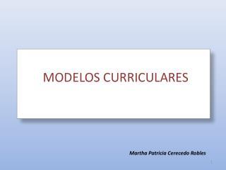 MODELOS CURRICULARES