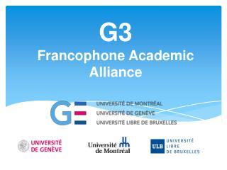 G3 Francophone Academic  Alliance