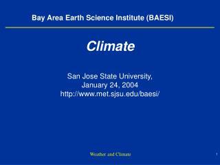 Bay Area Earth Science Institute BAESI