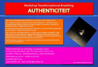 Workshop  Transformational Breathing AUTHENTICITEIT