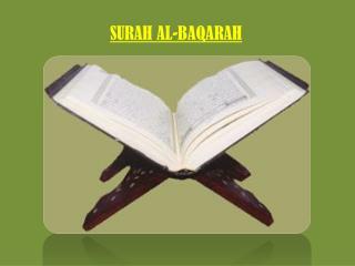 SURAH  AL- BAQARAH