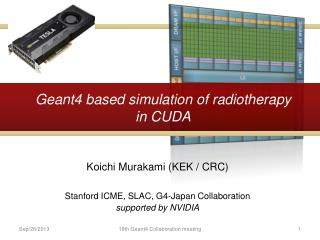 Geant4 based simulation of radiotherapy in CUDA