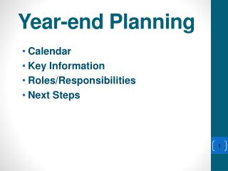 Year-end Planning