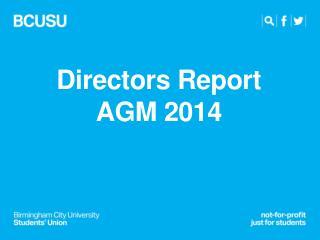 Directors Report AGM 2014