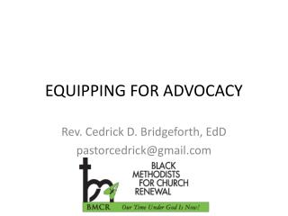 EQUIPPING FOR ADVOCACY