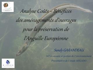 Sandy GARANDEAU M2 économie et gestion de l'environnement Présentation de l'étude MIGADO