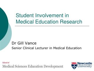 Student Involvement in Medical Education Research
