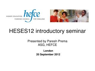 HESES12 introductory seminar