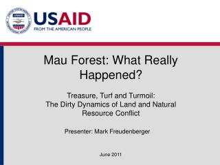 Mau Forest: What Really Happened?