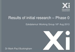 Results of initial research – Phase 0