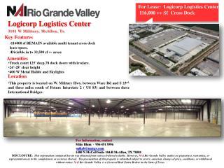 Logicorp Logistics Center  3101 W Military, McAllen, Tx