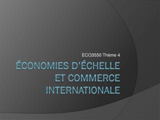 Économies d'échelle et COMMERCE INTERNATIONALE